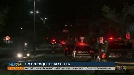 Prefeitura de Ponta Grossa decide encerrar toque de recolher