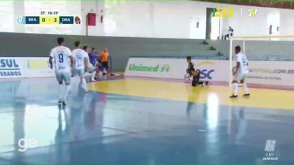 Os gols de Brasília 1 x 3 Dracena