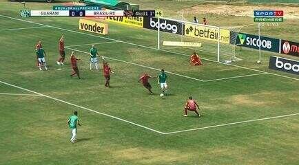 Veja os melhores momentos de Guarani 0 x 0 Brasil de Pelotas, pela 9ª rodada da Série B