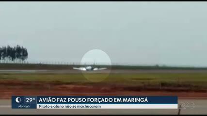 Avião faz aterrissagem forçada em Maringá