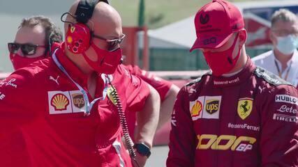 Mick Schumacher pilota Ferrari F2004 do pai Michael em Mugello