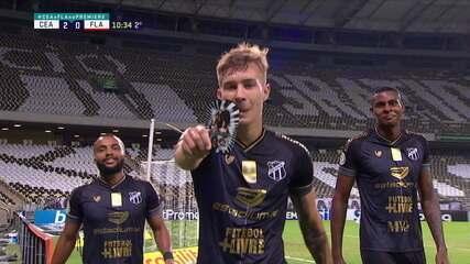 Os gols de Ceará 2 x 0 Flamengo pela 10ª rodada do Brasileirão 2020
