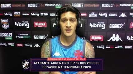 """Artilheiro do Vasco, Cano fala sobre excelente fase e sensação de defender o clube: """"Momento extraordinário"""""""
