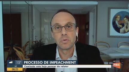 Comissão da Alesc vota nesta segunda parecer do relator em processo de impeachment