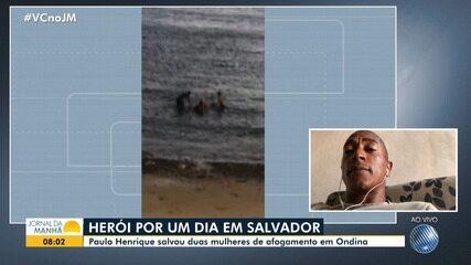 Conheça o salva-vidas desempregado que resgatou duas mulheres de afogamento em Ondina