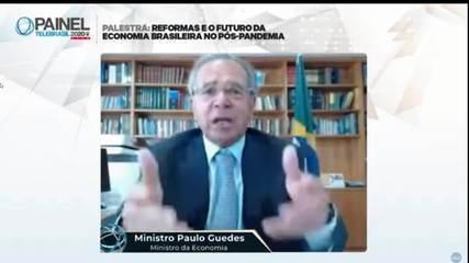 Paulo Guedes sobre críticas ao Renda Brasil: 'O cartão vermelho não foi para mim'