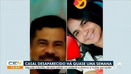 Família busca casal desaparecido desde a última sexta-feira (11)