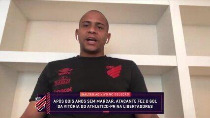 """Após emagrecer mais de 20 kg, Walter comemora gol pelo Athletico-PR na Libertadores: """"Nem consegui dormir"""""""