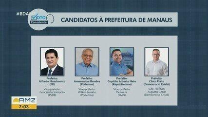 Eleição 2020: Veja quem são os candidatos à prefeitura de Manaus
