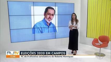 PC do B oficializa candidatura de Roberto Henriques à Prefeitura de Campos, no RJ