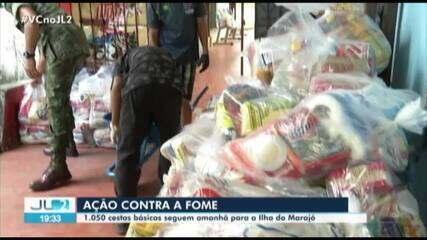 Campanha da TV Liberal e Fundação Pestalozzi leva cestas básicas a três cidades do Marajó