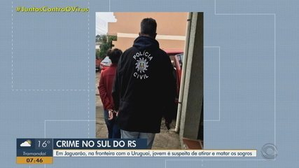 Presa suspeita de matar sogros em Jaguarão; namorado admitiu à polícia ter planejado crime