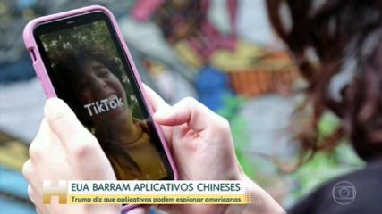 EUA proibirão downloads de TikTok e uso do WeChat a partir de domingo