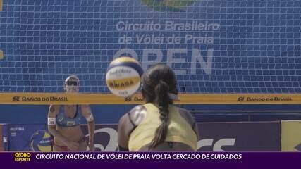 Circuito Brasileiro de Vôlei de Praia retorna com cuidados especiais por causa da pandemia