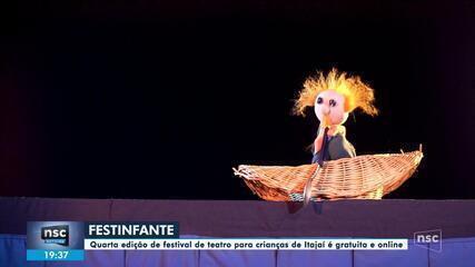 Itajaí tem festival de teatro para crianças gratuito e online