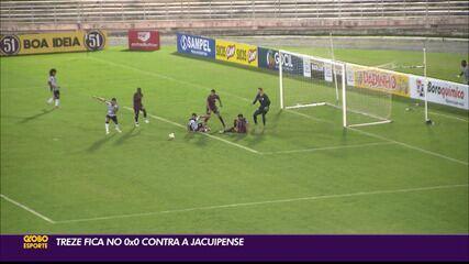 Treze empata com a Jacuipense e segue sem vencer na Série C
