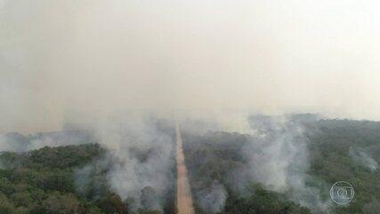 Chuvas não atingem as regiões mais afetadas pelos incêndios em Mato Grosso