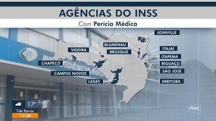 SC tem 12 agências do INSS com atendimento de peritos médicos