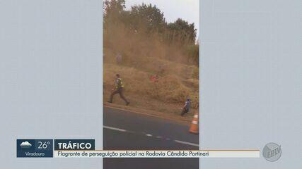 Vídeo mostra perseguição policial na Rodovia Cândido Portinari em Franca, SP