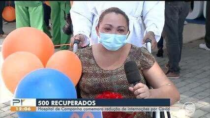 Hospital de campanha comemora 500 pacientes curados de Covid-19