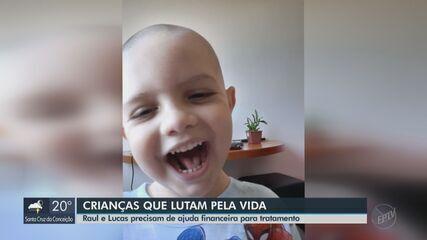 Crianças da região precisam de ajuda financeira para tratamentos de saúde