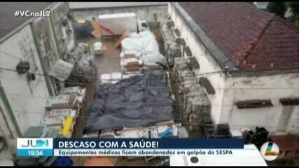 Equipamentos médicos são abandonados em galpão da Sespa