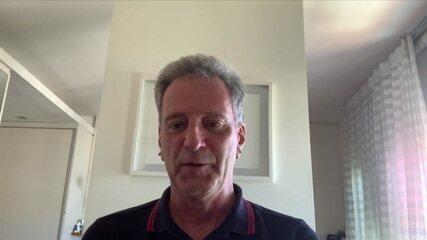 Presidente do Flamengo Rodolfo Landim fala sobre casos de Covid no clube