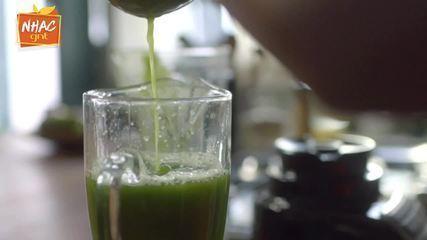 Suco verde com capim-limão