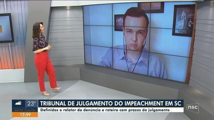 Anderson Silva comenta escolha de relator do tribunal misto do impeachment de SC