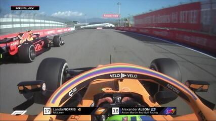 Norris ultrapassa Albon no GP da Rússia