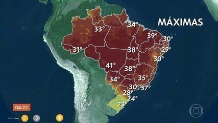 Calor predomina em boa parte do país nesta segunda-feira