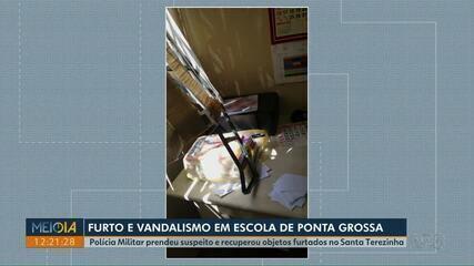 Polícia prende suspeito de furtar escola em Ponta Grossa