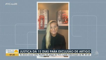 Justiça dá prazo de 15 dias para Cátia Raulino suspender publicação de artigo em revista