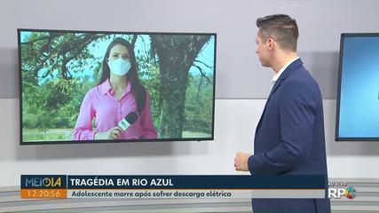 Adolescente morre após sofrer descarga elétrica em Rio Azul