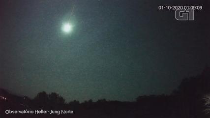 Observatório registra meteorito mais brilhante que a lua em Caxias do Sul