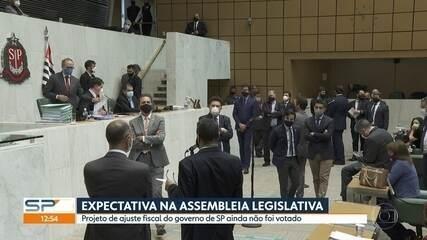 Projeto que prevê ajuste fiscal do governo de São Paulo ainda não foi votado