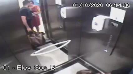 Imagens mostram lateral do Náutico conduzindo parto da filha no prédio