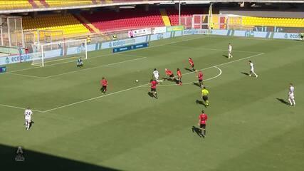 Benevento 1 x 0 Bologna pelo Campeonato Italiano: um dos três gols de Lapadula na temporada foi na vitória contra o Bologna
