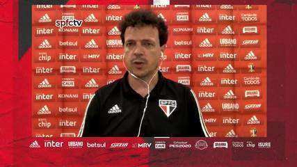 Entrevista coletiva de Fernando Diniz após Coritiba 1 x 1 São Paulo