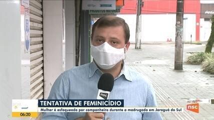 Mulher é esfaqueada por companheiro em Jaraguá do Sul