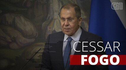 Chanceler russo discursa sobre cessar-fogo entre Armênia e Azerbaijão