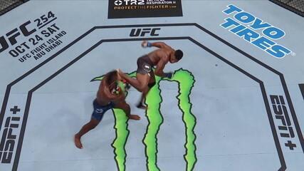 Melhores momentos entre Impa Kasanganay x Joaquin Buckley no UFC Moraes x Sandhagen