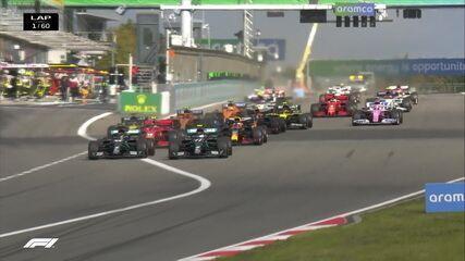 Bottas e Hamilton brigam pela ponta no GP de Eifel de Fórmula 1