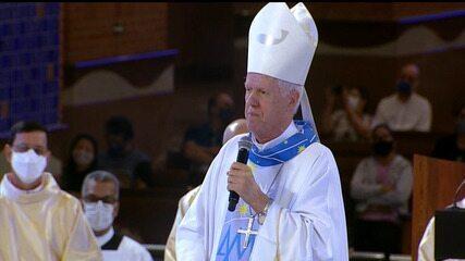 'Não deixai que nosso Brasil se perca nas chamas', diz arcebispo em sermão em Aparecida