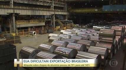EUA aumentam taxa de sobre chapas de alumínio importadas do Brasil e mais 17 países