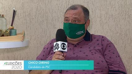 Candidato Chico Oiring (PSC) fala sobre saúde para cidade de Taubaté
