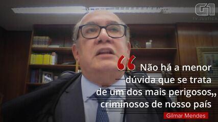 Gilmar Mendes vota por manter decisão de Fux que determinou prisão de André do Rap