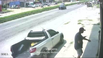 Câmera de segurança flagra roubo de veículo na RJ-140, em São Pedro da Aldeia