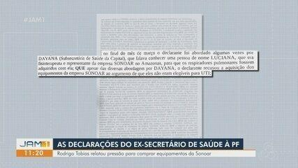 Ex-secretário de Saúde do AM, Rodrigo Tobias, depõe à PF