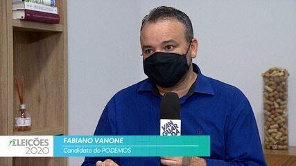 Candidato Fabiano Vanone (Podemos) fala sobre a saúde para cidade de Taubaté